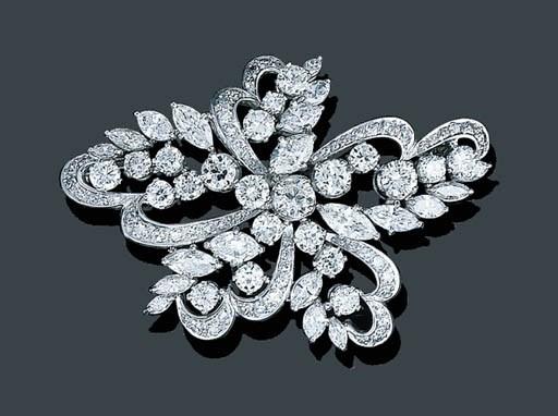 A PLATINUM AND DIAMOND SPRAY B