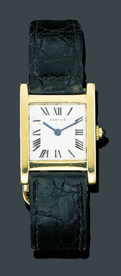 A GOLD WRISTWATCH, CARTIER