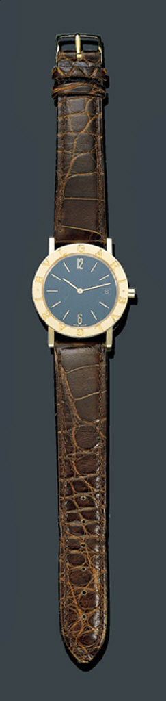 AN 18K GOLD WRISTWATCH, BULGAR