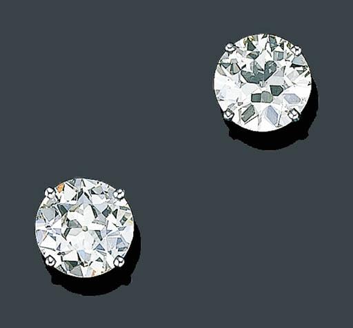 AN IMPRESSIVE PAIR OF DIAMOND