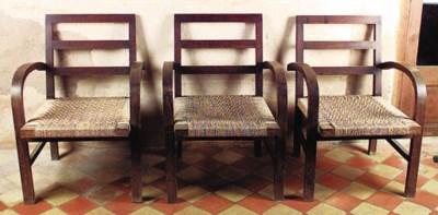 Juego de seis sillones espaole