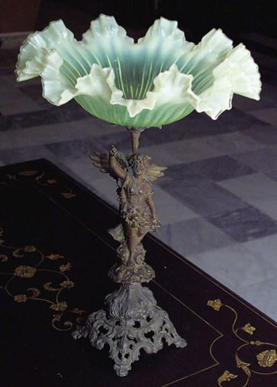 Centro-mesa francs en cristal