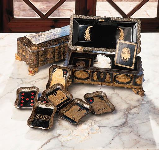 Pareja de cajas de juego china