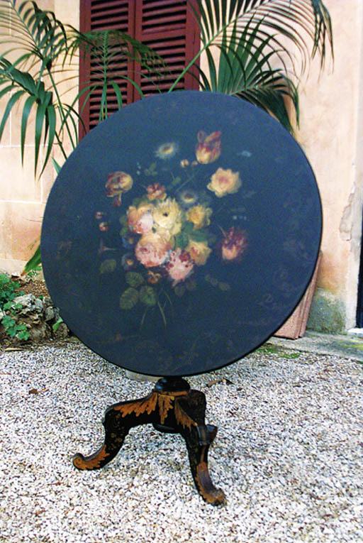 Mesa de centro circular espaol