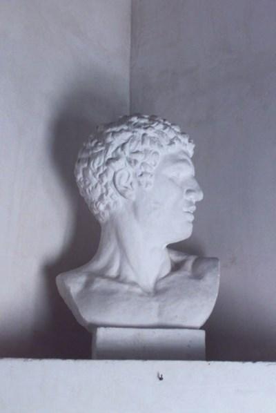 Busto romano de yeso