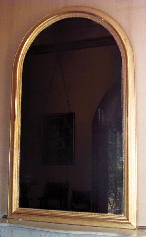 Espejo en madera dorada y yeso