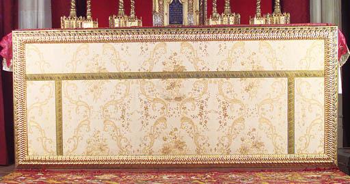 Panel en seda con motivos flor