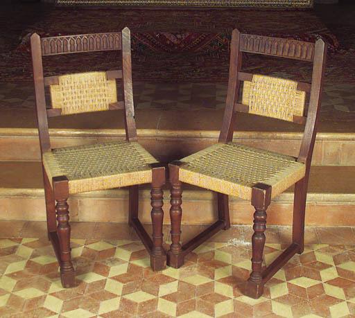 Juego de seis sillas espaolas