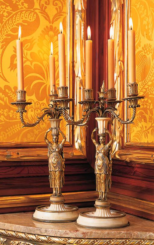 Pareja de candelabros Imperio