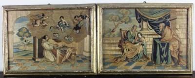 Dos cuadros bordados