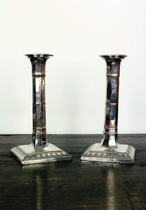 Pareja de candeleros Jorge III