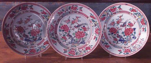 Tres platos chinos Famille Ros