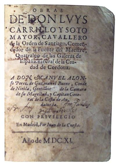 CARILLO Y SOTOMAYOR, Luis