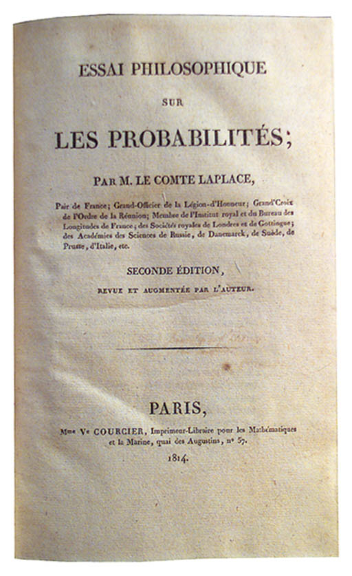 LAPLACE, Pierre Simon de, Marq