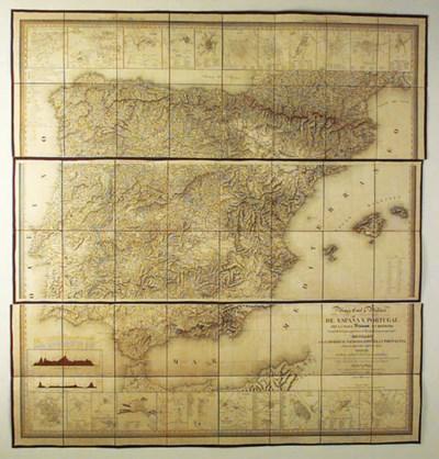 Mapa civil y militar de Espaa
