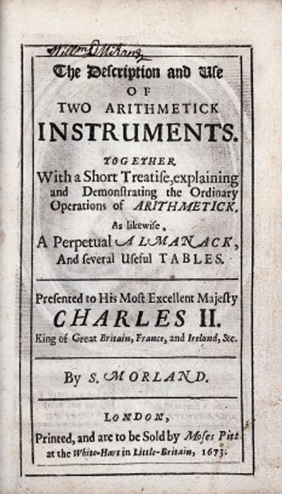 MORLAND, Samuel. The descripti
