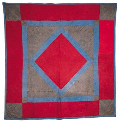 AN AMISH PIECED AND APPLIQUED