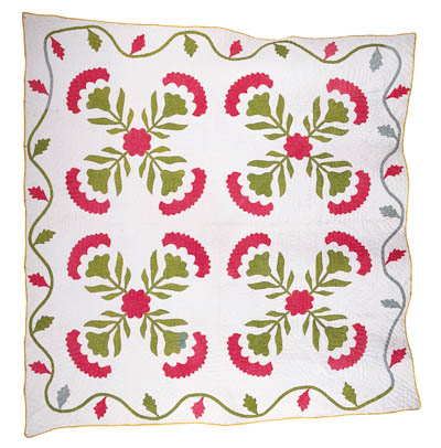 A PIECED AND APPLIQUED COTTON