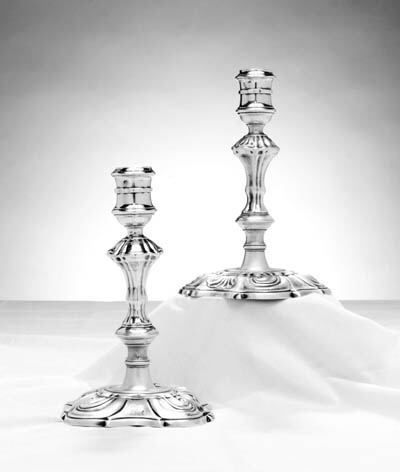 A PAIR OF GEORGE II SILVER CAN
