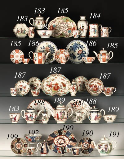 FOUR WORCESTER CHINOISERIE TAB