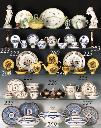 SEVEN ENGLISH TABLE WARES AND