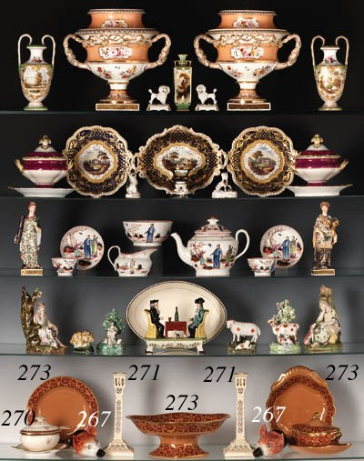 TWO STAFFORDSHIRE PORCELAIN FO