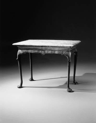 A GEORGE II WALNUT PIER TABLE