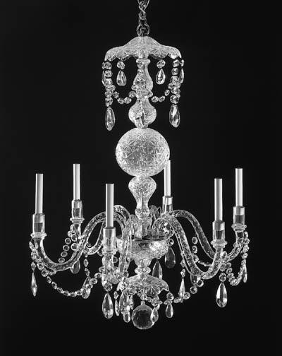 A GEORGE III STYLE CUT-GLASS C