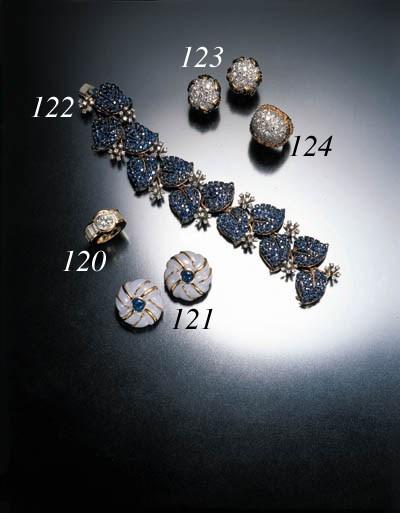 SAPPHIRE AND DIAMOND FOLIATE B