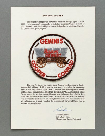 FLOWN Gemini 5 cloth mission p
