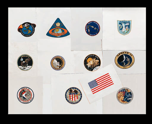 [APOLLO SPACESUIT EMBLEMS].  A