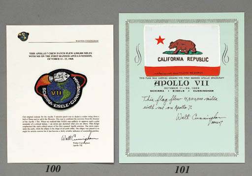 FLOWN Apollo 7 crew emblem pat