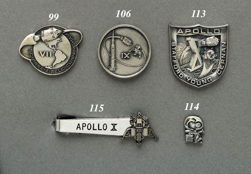 FLOWN Apollo 9 sterling silver