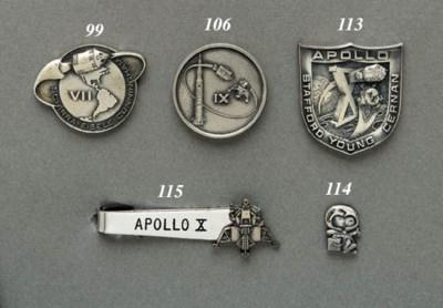 FLOWN Apollo 9 sterling silver