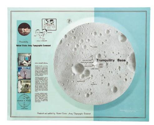 Apollo 11 landing site map.  A