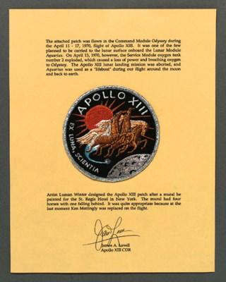 FLOWN Apollo XIII cloth crew e