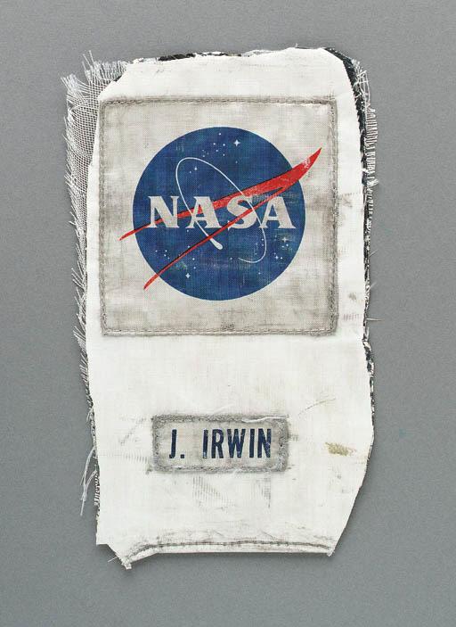 FLOWN NASA emblem and name tag