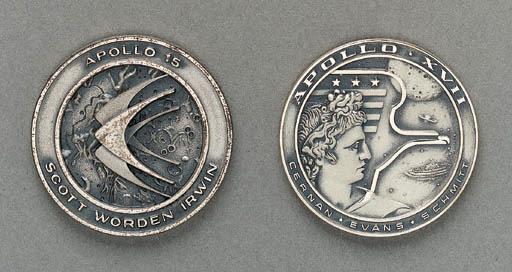 FLOWN Apollo 15 sterling silve