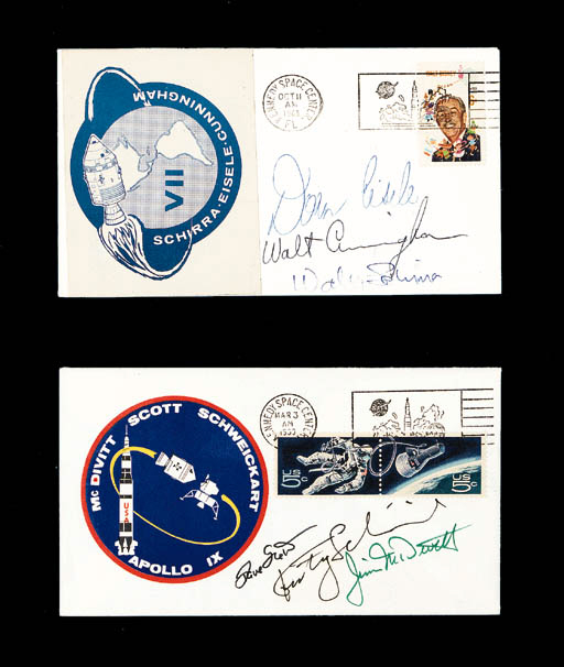 [APOLLO 7 AND 9]. 2 launch cov