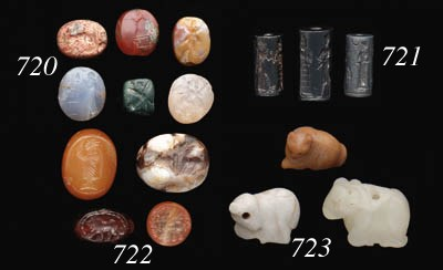 SEVEN NEAR EASTERN STAMP SEALS