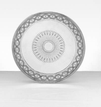 AN AMERICAN SILVER CAKE STAND