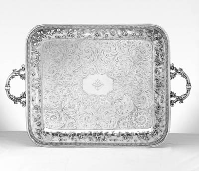 AN AMERICAN SILVER LARGE TWO-H