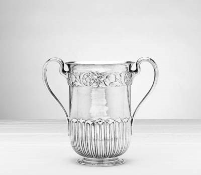 A GEORGE V SILVER TWO-HANDLED
