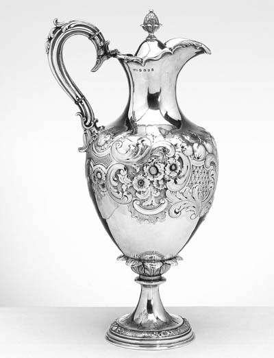 A VICTORIAN SILVER HOT-WATER J
