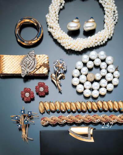 DIAMOND, RUBY AND YELLOW GOLD BRACELET