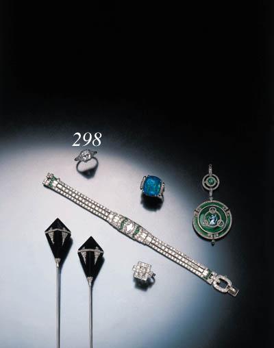 ART DECO DIAMOND ENGAGEMENT RI
