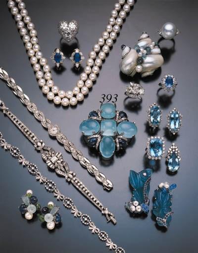 DIAMOND, SAPPHIRE AND AQUAMARI