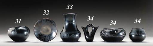 THREE PEUBLO BLACKWARE VESSELS