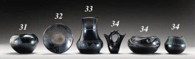 THREE PEUBLO BLACKWARE VESSELS