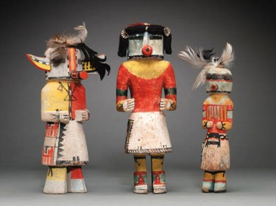 A GROUP OF THREE HOPI POLYCHRO